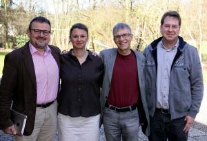 v.l.n.r. Bernd Krott (Stellv. Vorsitzender), Marika Jungblut (Schriftführerin und Referentin für Öffentlichkeitsarbeit), Bruno Barth (Vorsitzender), Thomas Lessner (Kassierer)